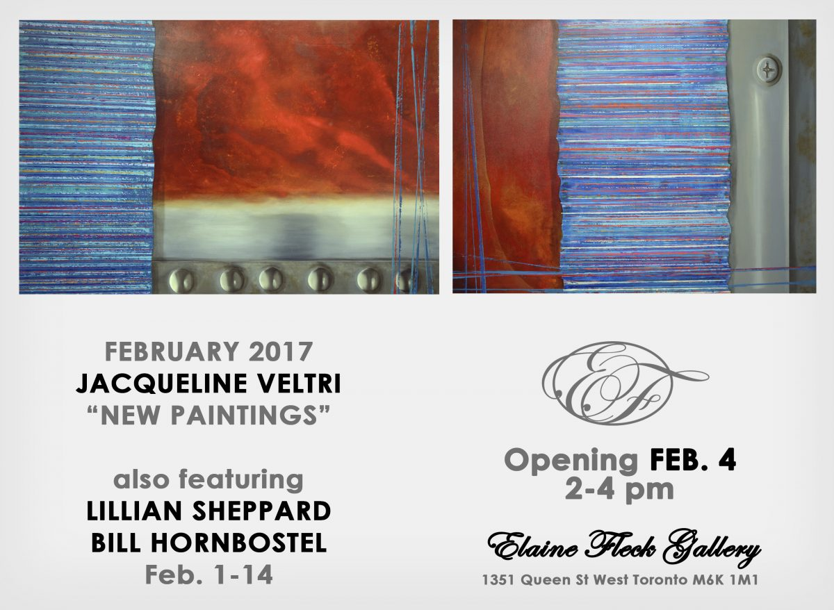 """Jacqueline Veltri, """"New Paintings,"""" also featuring Lillian Sheppard and Bill Hornbostel"""